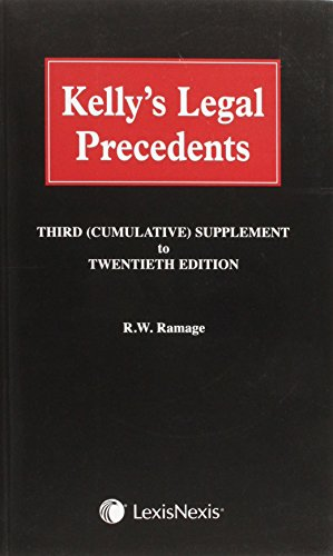 Kelly s Legal Precedents: Third Supplement to the 20th Edition (Mixed media product)