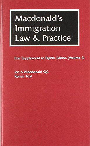 MACDONALDS IMMIGRATION LAW PRACTICE VOLU