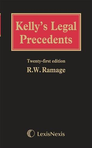 9781405791137: Kelly's Legal Precedents