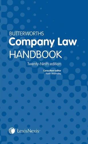 9781405794923: Butterworths Company Law Handbook