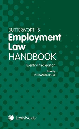 9781405794978: Butterworths Employment Law Handbook