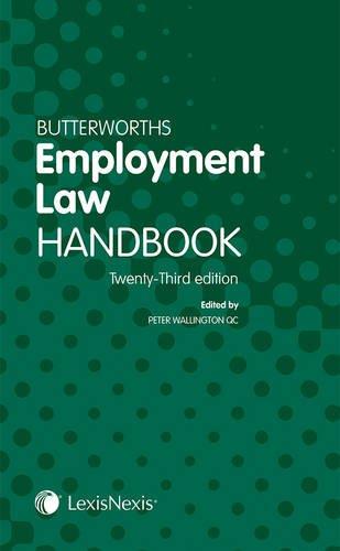 9781405794978: Butterworths Employment Law Handbook