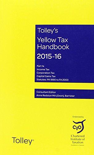 Tolley s Yellow Tax Handbook 2015-16 (Paperback)