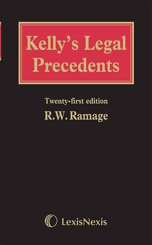 9781405799409: Kelly's Legal Precedents