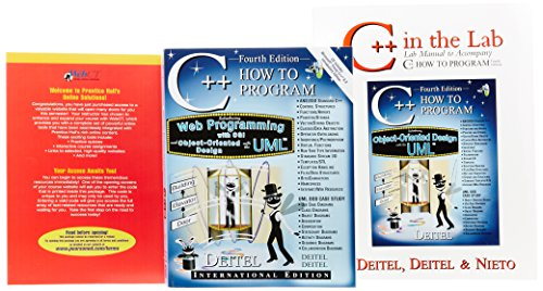C++ How to Program: WITH Lab Manual Package AND WebCt Premium Access Code Card (9781405809696) by Harvey M. Deitel