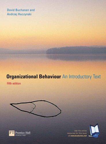 9781405811163: Organizational Behaviour: An Introductory Text: AND Rethinking Organisational Behaviour
