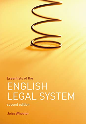 9781405811675: Essentials of The English Legal System (Frameworks Series)