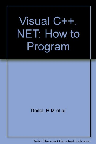 9781405814430: Visual C++. NET: How to Program