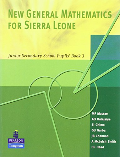 9781405816793: New General Maths for Sierra Leone: JSS PB 3