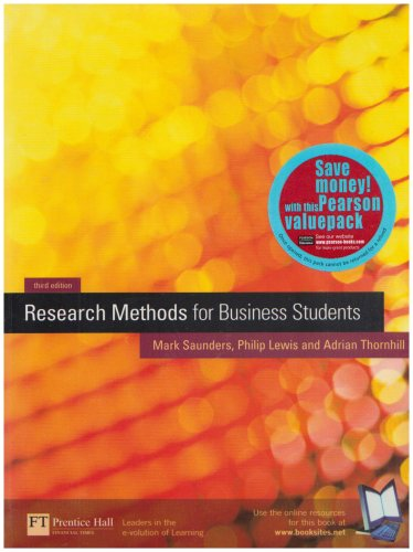 9781405817783: Research Methods for Business Students: AND Researching and Writing a Dissertation for Business Students