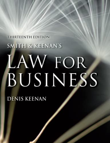9781405824040: Smith and Keenan's Law for Business