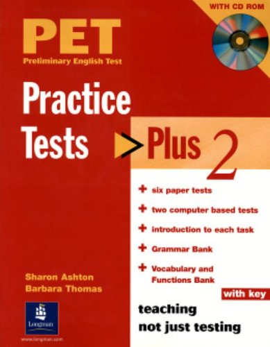 9781405831376: PET Practice Tests Plus 2: Book with CD-Rom (key included)
