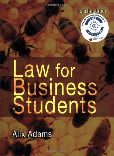 9781405832625: Law for Business Students