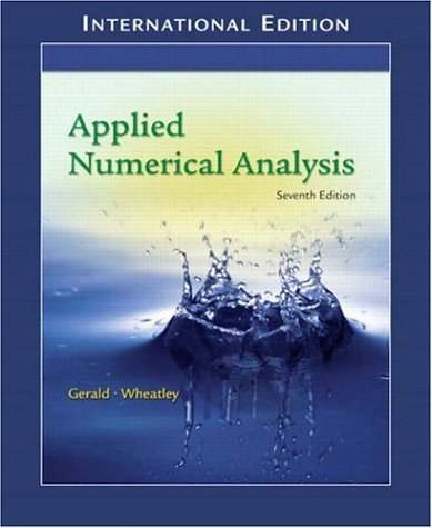 9781405836081: Applied Numerical Analysis: (International Edition) with Maple 10 VP