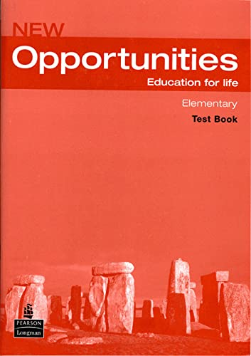 9781405838030: Opportunities Global Elementary Test CD Pack: WITH Opportunities Elementary Global Test Book AND Audio CD