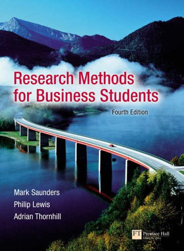 9781405840095: Research Methods for Business Students