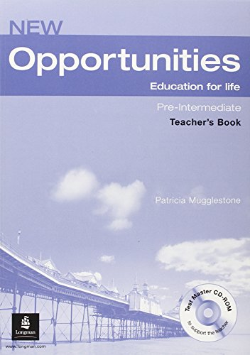 9781405841436: New opportunities. Pre-intermediate. Teacher's book. Ediz. internazionale. Per le Scuole superiori. Con espansione online