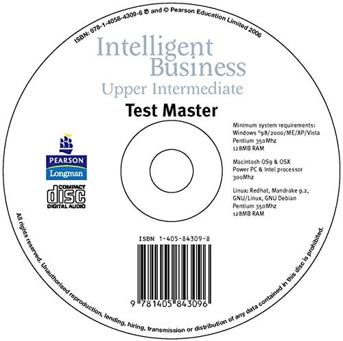 9781405843096: Intelligent Business Upper Intermediate Test Master CD-ROM for Pack