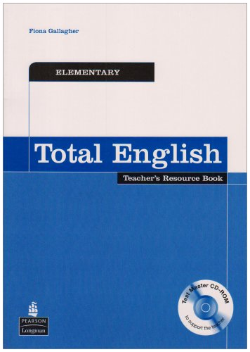 9781405843195: Total English Elementary Teacher's Resource Book and Test Master CD-Rom Pack