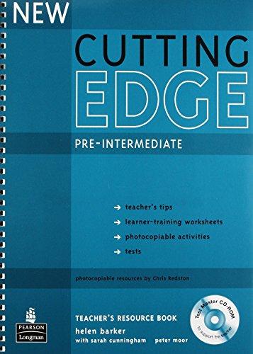 9781405843492: New Cutting Edge Pre-Intermediate Teachers Book and Test Master CD-Rom Pack
