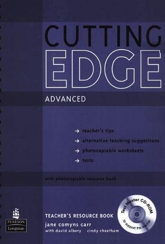 9781405843645: New Cutting Edge Advanced Teachers Book and Test Master CD-ROM Pack