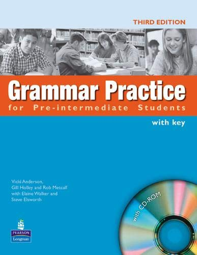 9781405844659: Grammar Practice Pre-Intermediate Students Book with key ( New Edition ) for pack