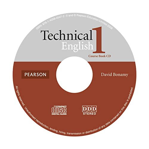 9781405845472: Technical English Level 1 Coursebook CD: Course Book Level 1