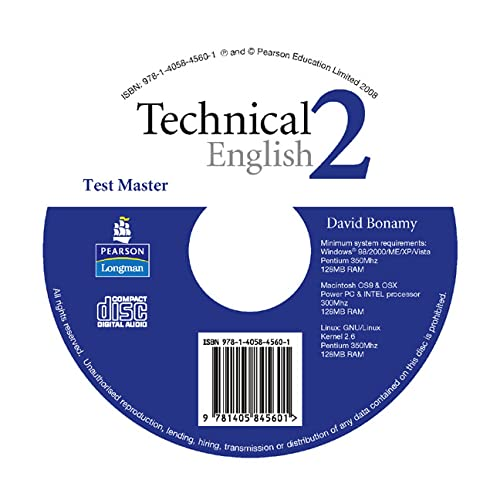 9781405845601: Technical English Level 2 Test Master CD-ROM for Pack
