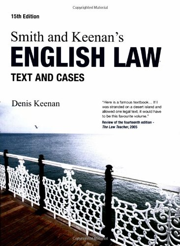 9781405846189: Smith & Keenan's English Law: Text and Cases