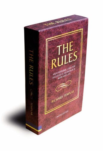 9781405846530: The Rules: A Personal Code for Living a Better, Happier, More Successful Kind of Life: WITH Rules of Work (UK Versions) AND Rules of Life
