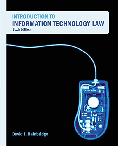9781405846660: Introduction to Information Technology Law