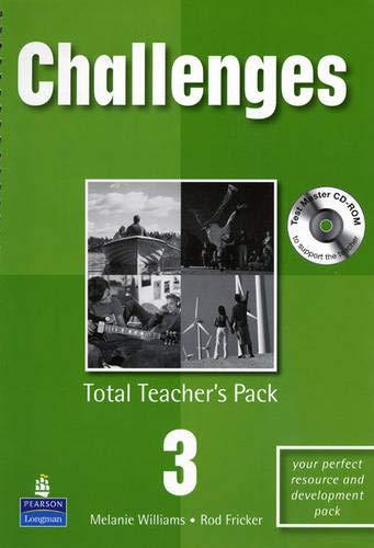 9781405848251: Challenges Total Teachers Pack 3 & Test Master CD-Rom 3 Pack: Total Teachers Pack 3 and Test Master CD-Rom 3