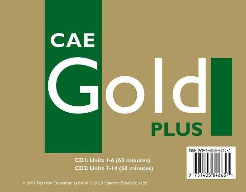 9781405848657: CAE Gold Plus Coursebook Class CD 1-2: CBk Class CD 1-2
