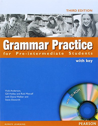 9781405852968: Grammar Practice for Pre-Intermediate Students: With Key (With CD-Rom Package)