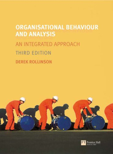 Organisational Behaviour and Analysis: WITH Research Methods for Business Students AND Business Student's Handbook, Learning Skills for Study and Employment: An Integrated Approach (1405854391) by Dr Derek Rollinson; Mark Saunders; Adrian Thornhill; Philip Lewis; Sheila Cameron