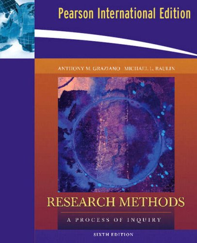 9781405854856: Research Methods: A Process of Inquiry