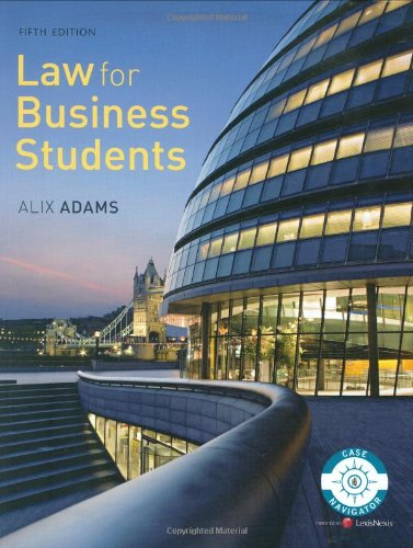 9781405858885: Law for Business Students