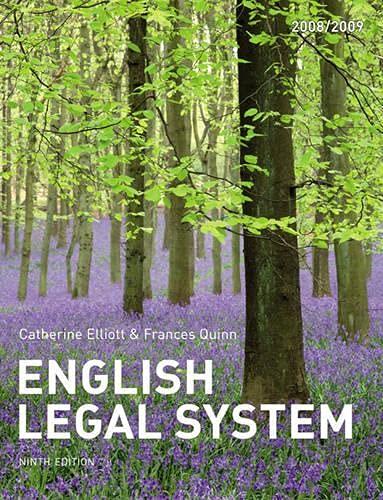 9781405859417: English Legal System (Elliott and Quinn)