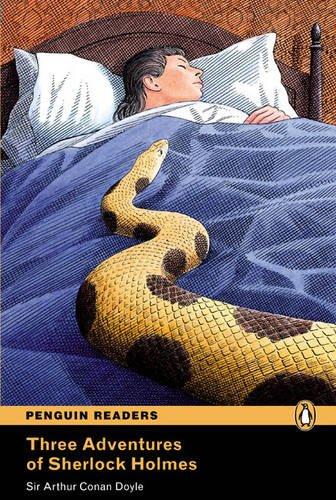 9781405860727: PLPR4:Three Adventures of Sherlock Holmes CD for Pack (Penguin Readers (Graded Readers))