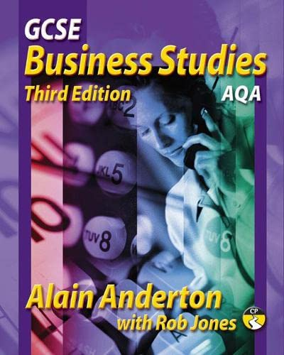 GCSE Business Studies: AQA Version: Mr Alain Anderton,