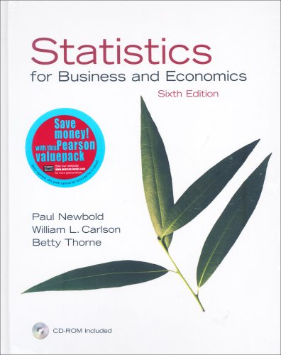 Statistics for Business and Economics: AND Student Solutions Manual: Newbold, Paul; Carlson, ...