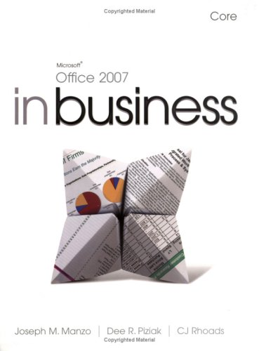9781405873703: Microsoft Office 2007 in Business Core and Student Resource DVD