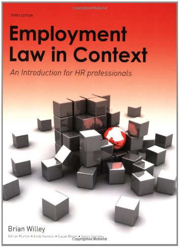 9781405874007: Employment Law in Context: An Introduction for HR Professionals