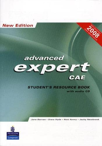 9781405880800: CAE Expert New Edition Students Resource Book no Key/CD Pack