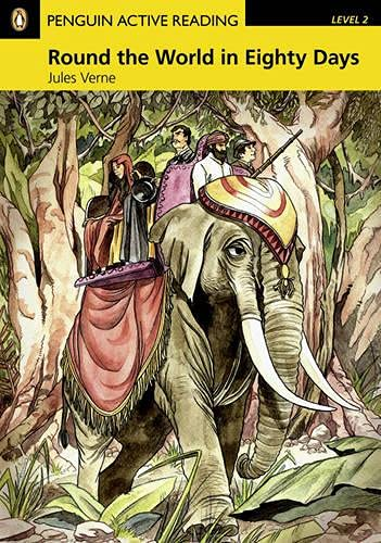 9781405884419: PLAR2:Round the World in Eighty Days Book and CD-ROM Pack: Level 2 (Penguin Active Reading (Graded Readers))