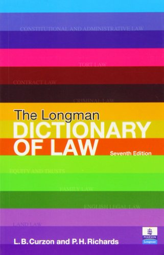Constitutional and Administrative Law/The Longman Dictionary of: Bradley, A., Ewing,
