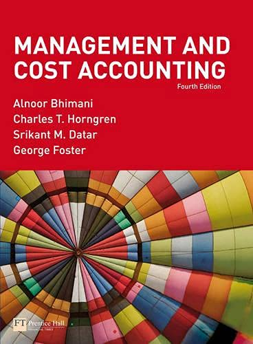 9781405888202: Management and Cost Accounting: AND Management and Cost Accounting Professional Questions