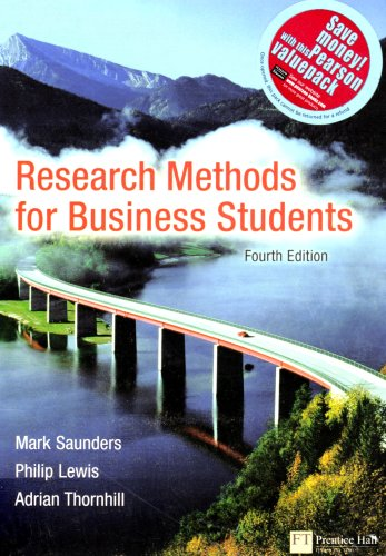 "Research Methods for Business Students: AND "" Practical Research, Planning and Design "" (1405893397) by Mark N.K. Saunders; Adrian Thornhill; Philip Lewis; Paul D. Leedy; Jeanne E Ormrod"