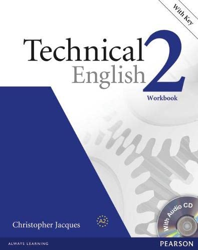 9781405896542: Technical English Level 2 Workbook with Audio CD and Answer Key