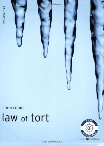 9781405898980: Law of Tort (Foundation Studies in Law Series)